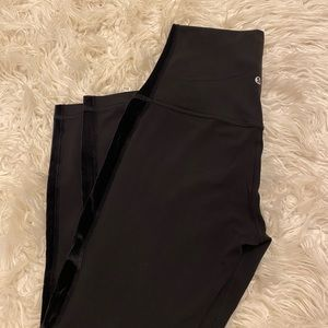 lululemon velvet strip black aligns
